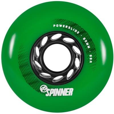 Колеса для роликов Powerslide Spinner 80mm/88A. Зеленый в магазине Rollbay.ru