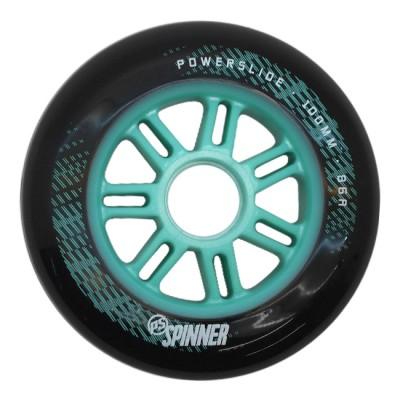 Колеса для роликов Powerslide Spinner 100mm/86A. Бирюзовый 6шт в магазине Rollbay.ru