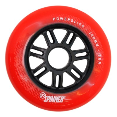Колеса для роликов Powerslide Spinner 100mm/86A. Красный в магазине Rollbay.ru