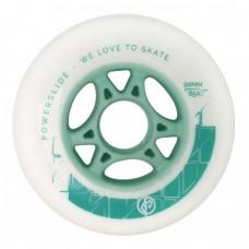 Колеса для роликов Powerslide Infinity Radon 90mm/85A. Зеленый