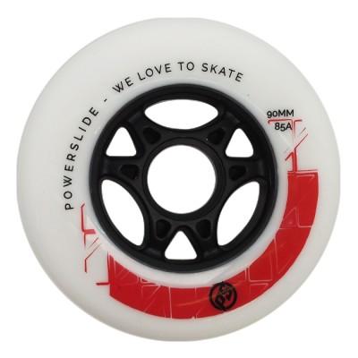 Колеса для роликов Powerslide Infinity Radon 90mm/85A. Красный в магазине Rollbay.ru