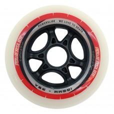 Колеса для роликовых коньков Powerslide Infinity 100mm/85A. Красно-белые