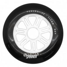 Колеса для роликов Powerslide Spinner 110mm/88A. Черно-белый