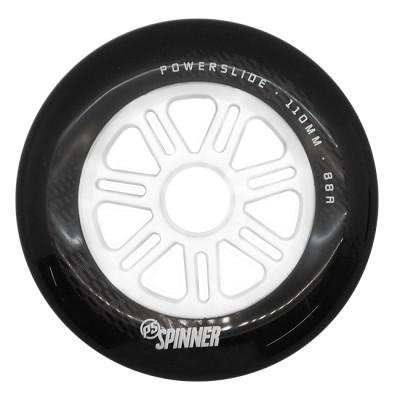 Колеса для роликов Powerslide Spinner 110mm/88A. Черно-белый в магазине Rollbay.ru