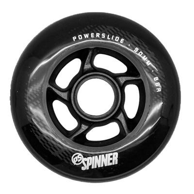 Колеса для роликов Powerslide Spinner 90mm/88A. Черный в магазине Rollbay.ru