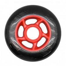 Колеса для роликов Powerslide Spinner 90mm/88A. Черно-красный