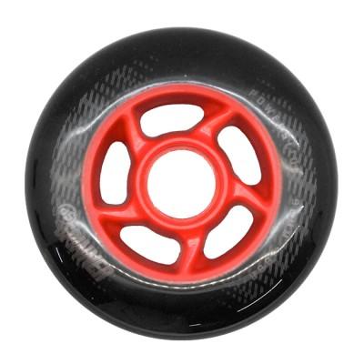 Колеса для роликов Powerslide Spinner 90mm/88A. Черно-красный в магазине Rollbay.ru