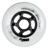 Колеса для роликов Powerslide Spinner 90mm/88A. Белый 4-pack