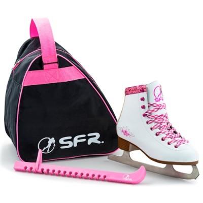 Коньки фигурные SFR Junior Ice Skate White Комплект в магазине Rollbay.ru