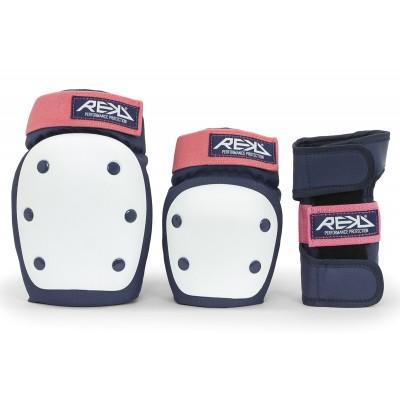 Защита для роликов REKD Heavy Duty Triple Pad Set Blue/Pink в магазине Rollbay.ru