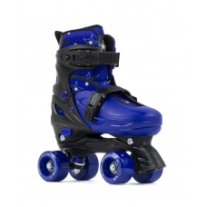 SFR Nebula Adjustable Quad Skates Black/Blue