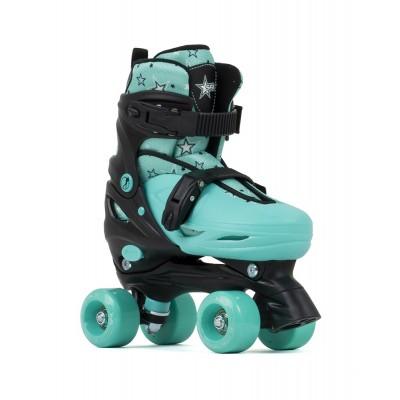 Ролики квады SFR Nebula Adjustable Quad Skates Black/Green в магазине Rollbay.ru