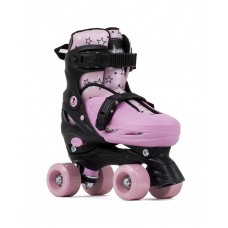 SFR Nebula Adjustable Quad Skates Black/Pink