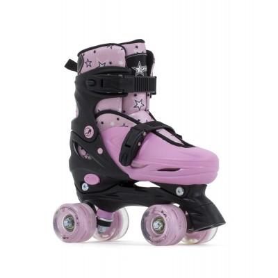 Ролики квады SFR Nebula Lights Adjustable Quad Skates Pink в магазине Rollbay.ru